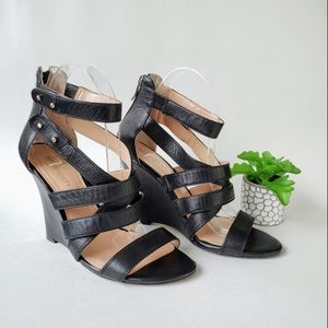 Edgy Strappy wedge